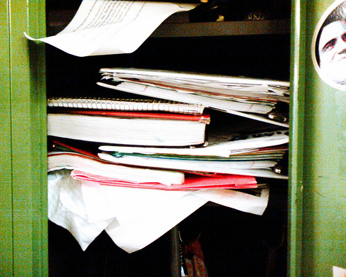messy locker adhd